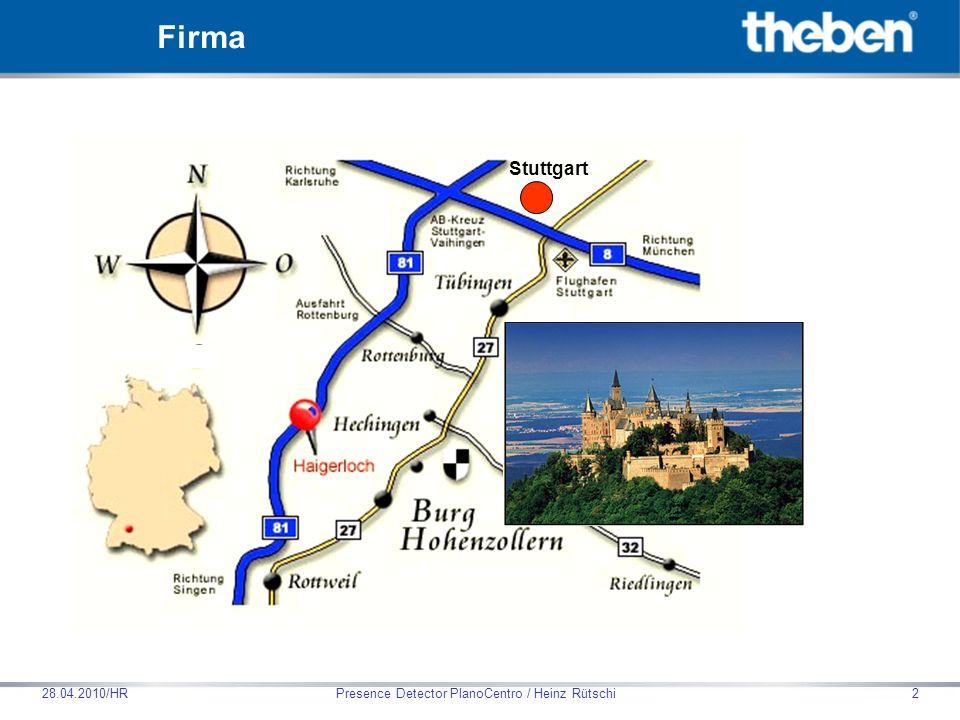Theben HTS AG Presence Detector PlanoCentro / Heinz Rütschi28.04.2010/HR83 SendoPro 868-A