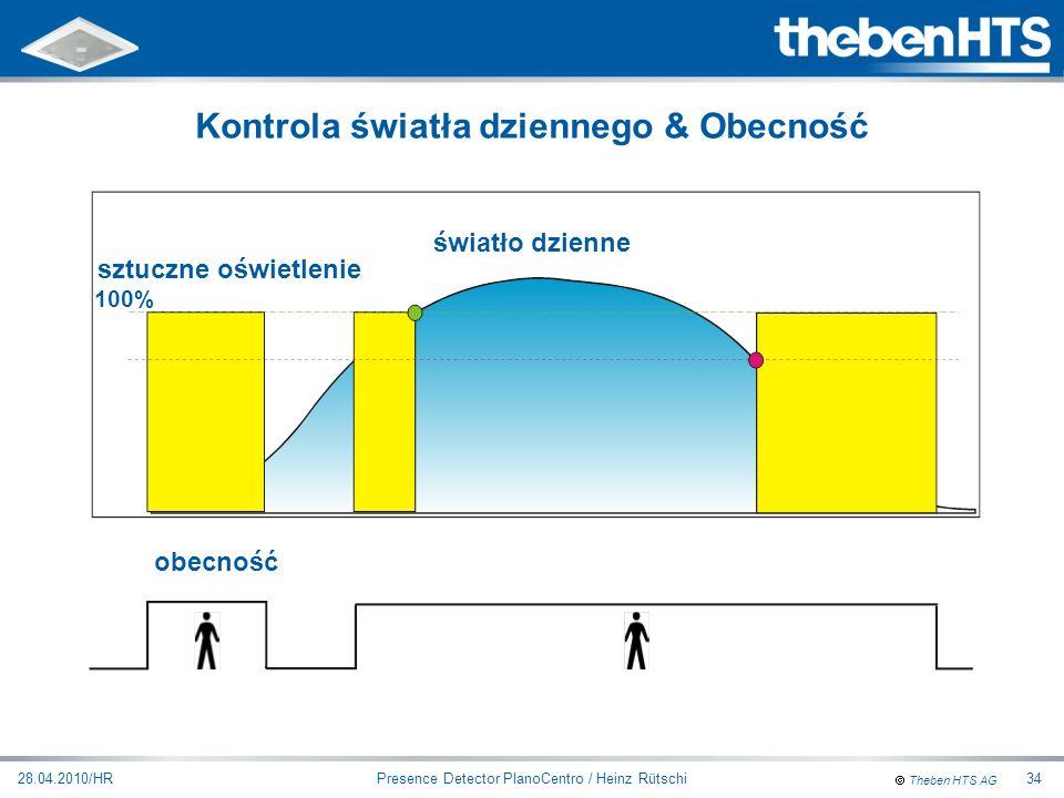 Theben HTS AG Presence Detector PlanoCentro / Heinz Rütschi28.04.2010/HR34 światło dzienne sztuczne oświetlenie obecność 100% Kontrola światła dzienne