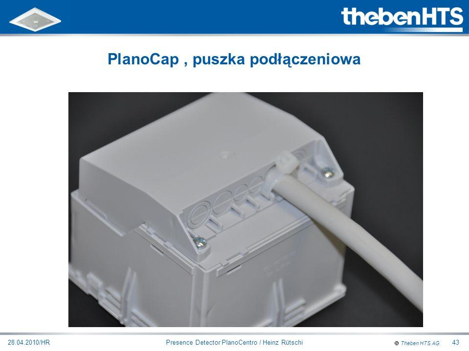 Theben HTS AG Presence Detector PlanoCentro / Heinz Rütschi28.04.2010/HR43 PlanoCap, puszka podłączeniowa
