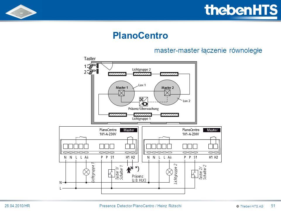 Theben HTS AG Presence Detector PlanoCentro / Heinz Rütschi28.04.2010/HR51 PlanoCentro master-master łączenie równoległe