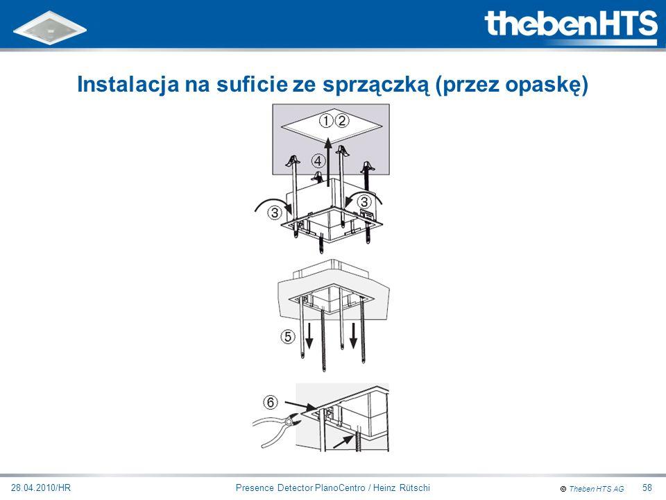 Theben HTS AG Presence Detector PlanoCentro / Heinz Rütschi28.04.2010/HR58 Instalacja na suficie ze sprzączką (przez opaskę)