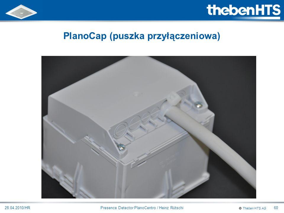 Theben HTS AG Presence Detector PlanoCentro / Heinz Rütschi28.04.2010/HR60 PlanoCap (puszka przyłączeniowa)
