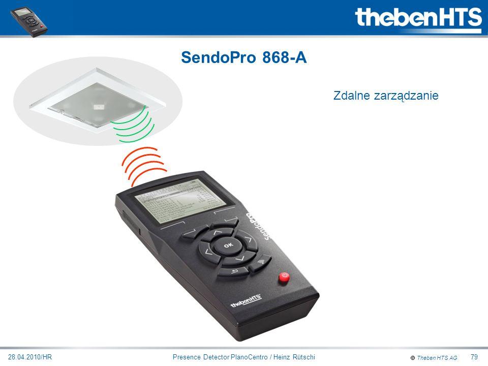 Theben HTS AG Presence Detector PlanoCentro / Heinz Rütschi28.04.2010/HR79 Zdalne zarządzanie SendoPro 868-A