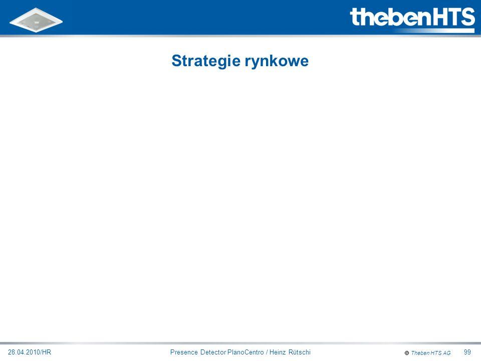 Theben HTS AG Presence Detector PlanoCentro / Heinz Rütschi28.04.2010/HR99 Strategie rynkowe