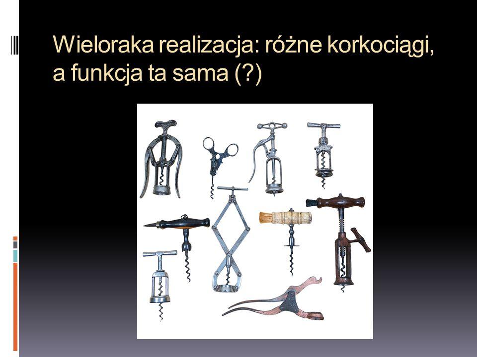 Wieloraka realizacja: różne korkociągi, a funkcja ta sama (?)