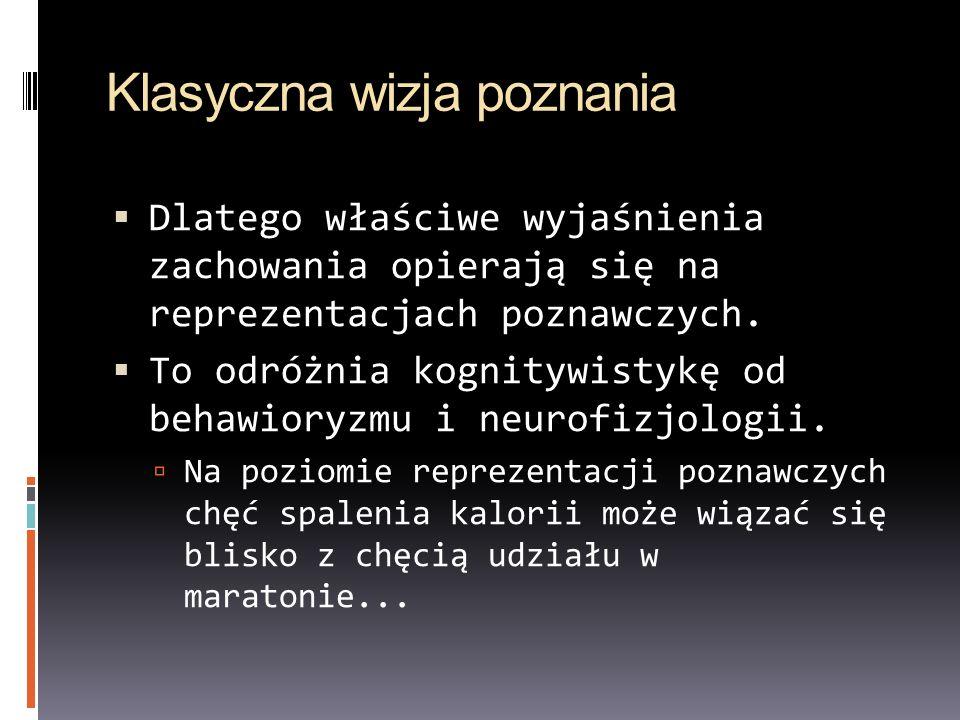 Zenon Pylyshyn: argument z uogólnienia Pylyshyn (1986): wyjaśnienia reprezentacyjne działania są bardziej ogólne od wyjaśnień fizjologicznych, bardziej szczegółowe od wyjaśnień behawioralnych.