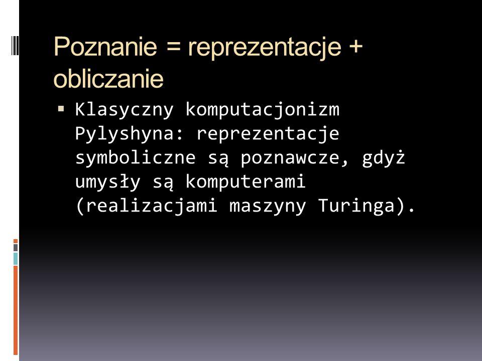 Teoria języka myśli (Mentalese) Pylyshyn – współpracownik Jerryego Fodora, filozofa, twórcy hipotezy języka myśli (1975) Ludzie mają wrodzony, symboliczny, amodalny kod, który służy do myślenia.