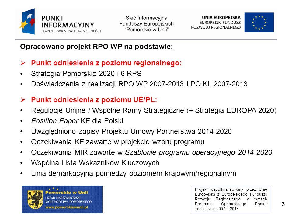 Projekt współfinansowany przez Unię Europejską z Europejskiego Funduszu Rozwoju Regionalnego w ramach Programu Operacyjnego Pomoc Techniczna 2007 – 2013 14 Priorytet VII Zdrowie Priorytet VII Zdrowie Priorytet VIII Konwersja Priorytet VIII Konwersja Priorytet V Zatrudnienie Priorytet V Zatrudnienie Priorytet VI Integracja Priorytet VI Integracja