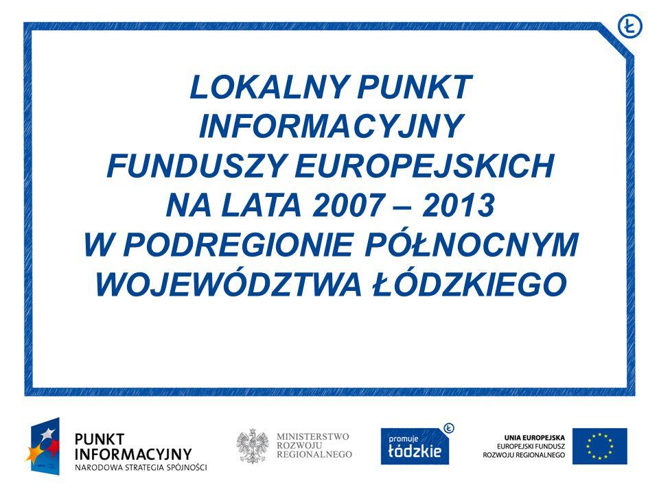 32 Projekt realizowany przez Fundację Aktywizacja Łodzi w ramach Programu Operacyjnego Kapitał Ludzki na lata 2007-2013, Priorytetu VI Rynek pracy otwarty dla wszystkich, Działania 6.2 Wsparcie oraz promocja przedsiębiorczości i samozatrudnienia.