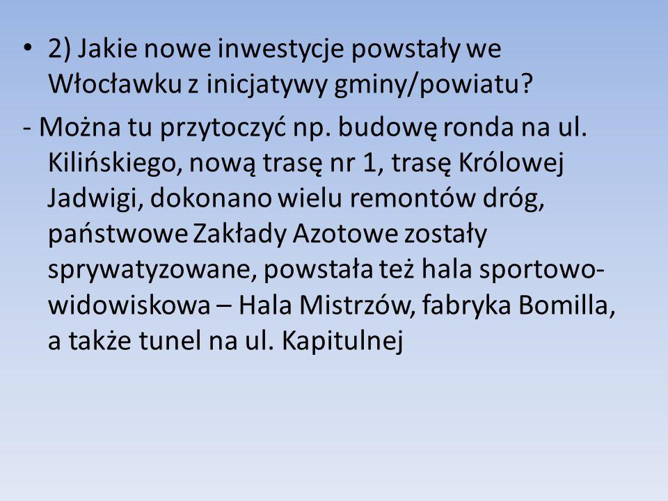 3) Czy we Włocławku jest bezpieczniej niż przed 1990r.