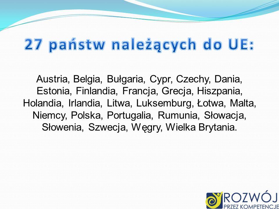 Austria, Belgia, Bułgaria, Cypr, Czechy, Dania, Estonia, Finlandia, Francja, Grecja, Hiszpania, Holandia, Irlandia, Litwa, Luksemburg, Łotwa, Malta, N
