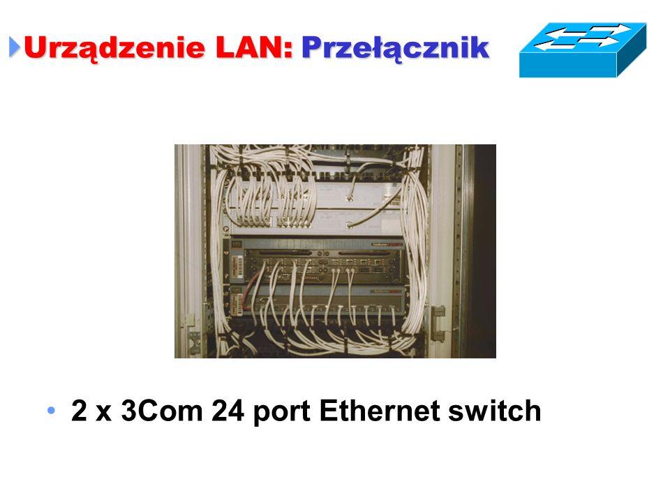 Urządzenie LAN: Przełącznik Urządzenie LAN: Przełącznik 2 x 3Com 24 port Ethernet switch
