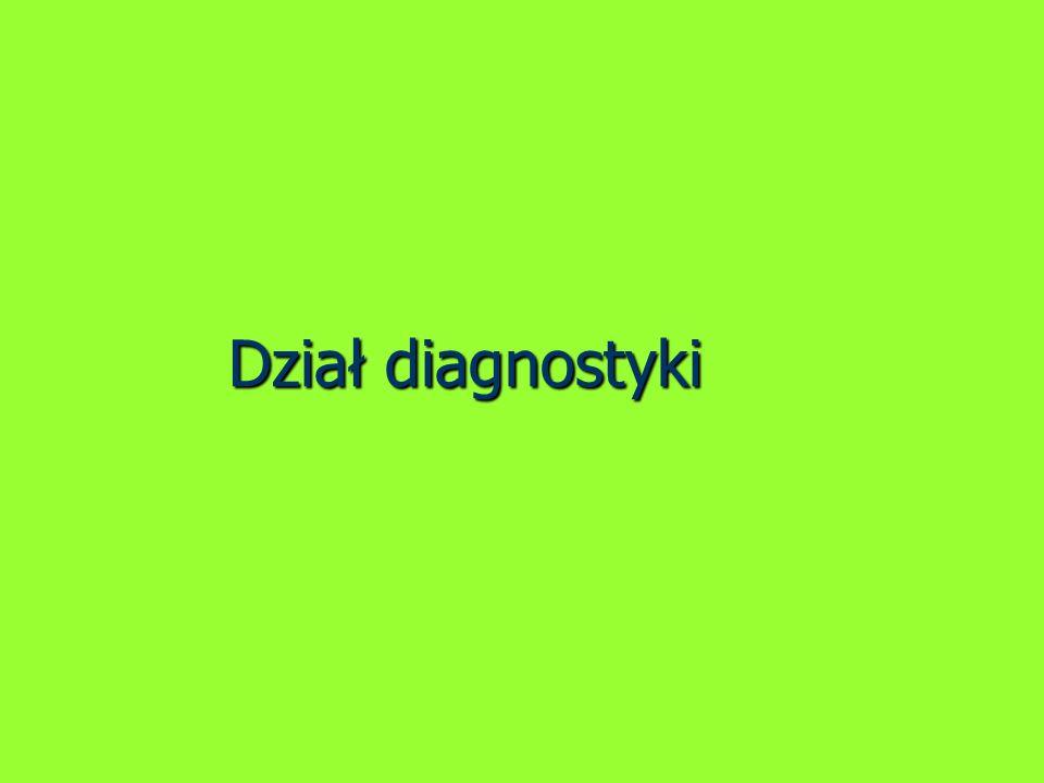 Dział diagnostyki