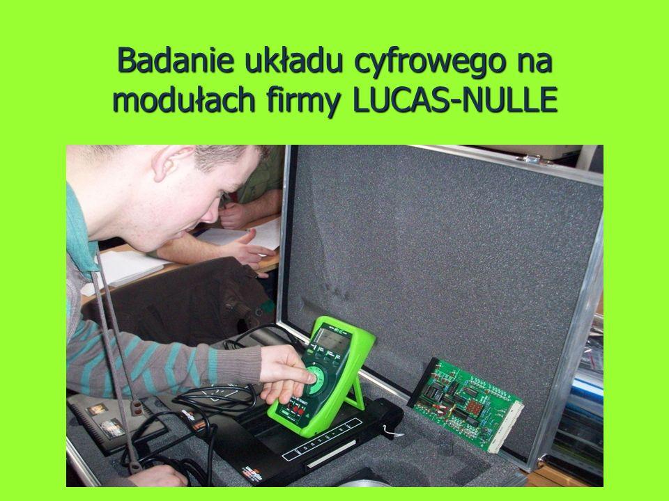 Badanie układu cyfrowego na modułach firmy LUCAS-NULLE