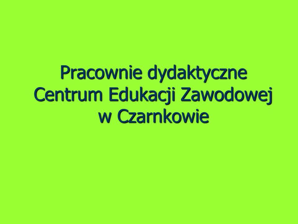 Pracownie dydaktyczne Centrum Edukacji Zawodowej w Czarnkowie