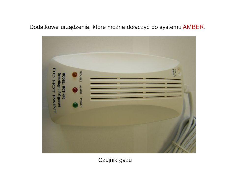 Dodatkowe urządzenia, które można dołączyć do systemu AMBER: Czujnik gazu