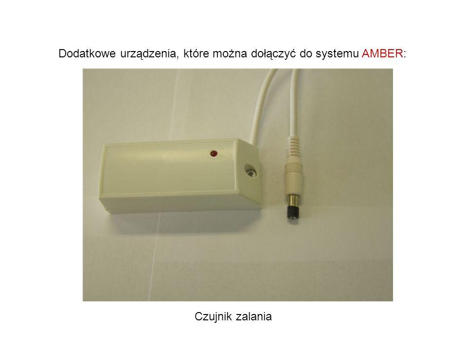Dodatkowe urządzenia, które można dołączyć do systemu AMBER: Czujnik zalania