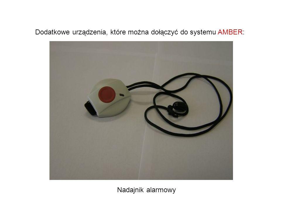 Dodatkowe urządzenia, które można dołączyć do systemu AMBER: Nadajnik alarmowy