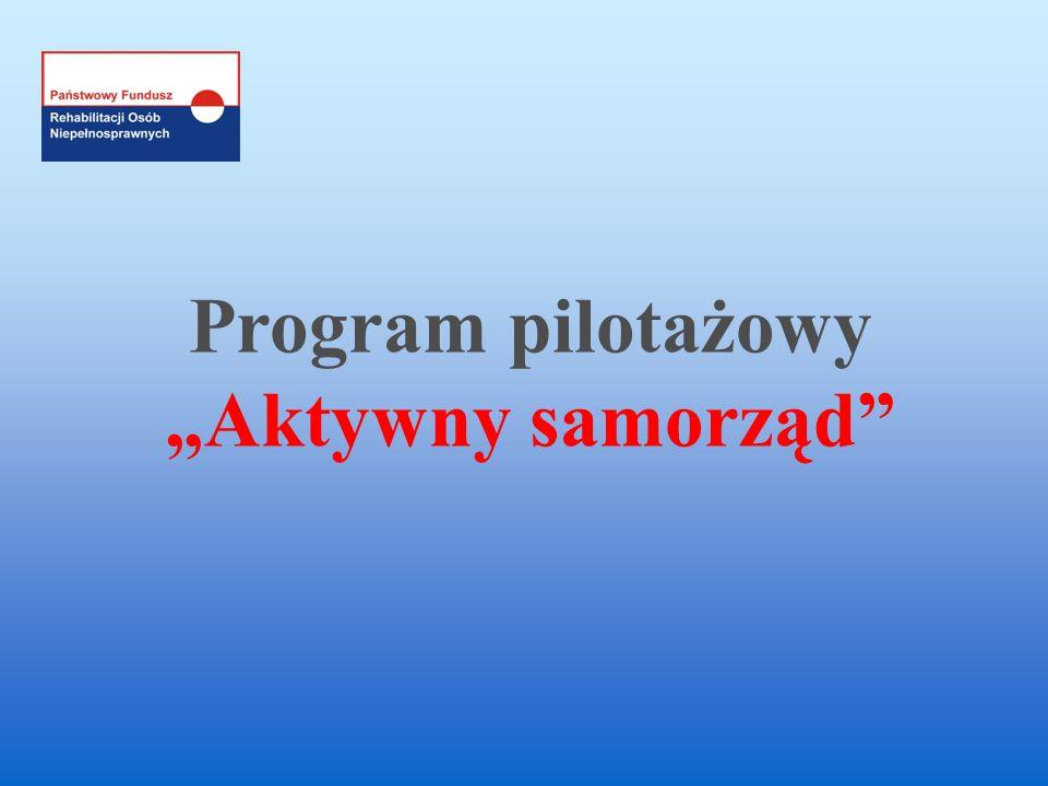 Program pilotażowy Aktywny samorząd
