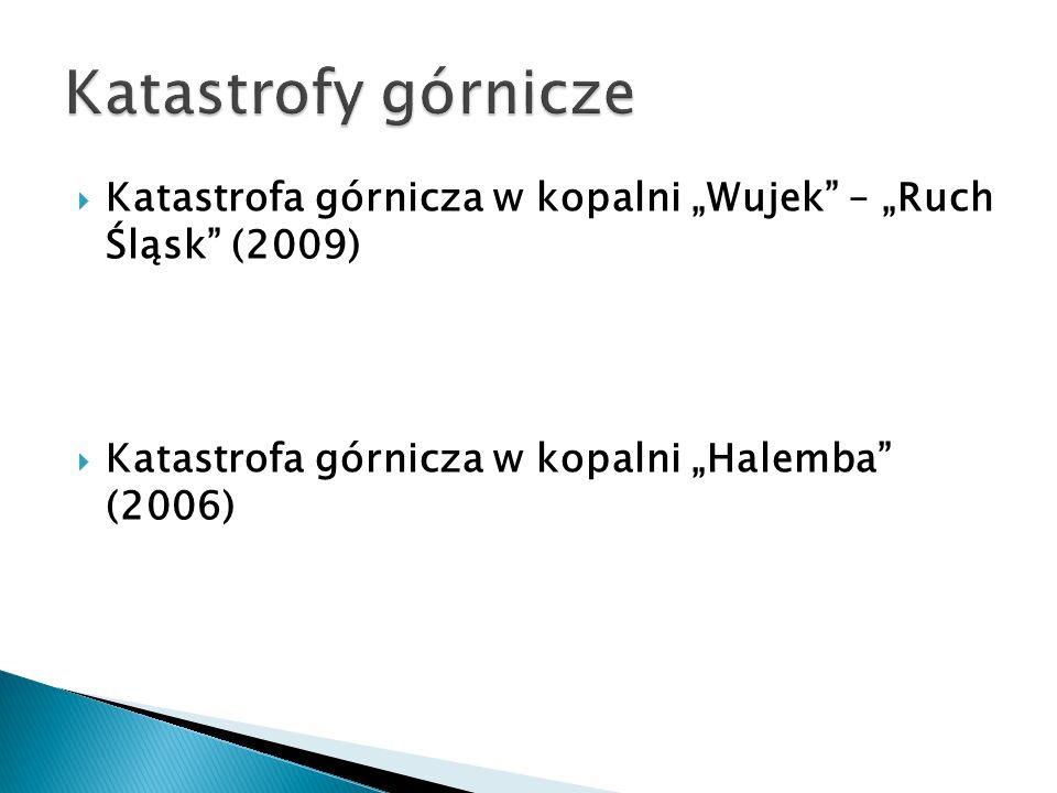 Katastrofa górnicza w kopalni Wujek – Ruch Śląsk (2009) Katastrofa górnicza w kopalni Halemba (2006)