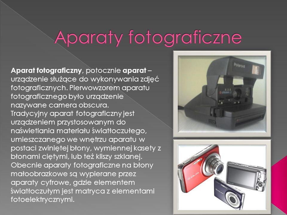 Aparat fotograficzny, potocznie aparat – urządzenie służące do wykonywania zdjęć fotograficznych. Pierwowzorem aparatu fotograficznego było urządzenie
