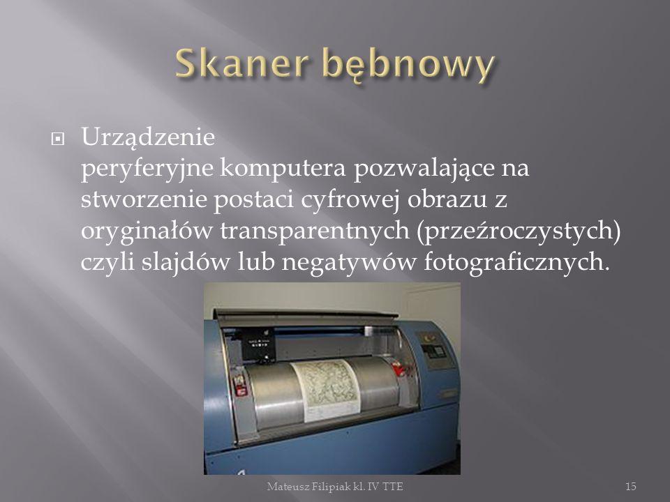 Urządzenie peryferyjne komputera pozwalające na stworzenie postaci cyfrowej obrazu z oryginałów transparentnych (przeźroczystych) czyli slajdów lub ne