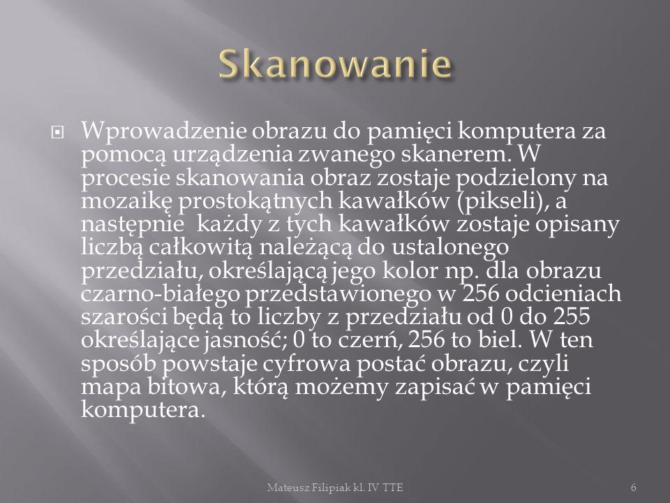 Mateusz Filipiak kl. IV TTE17