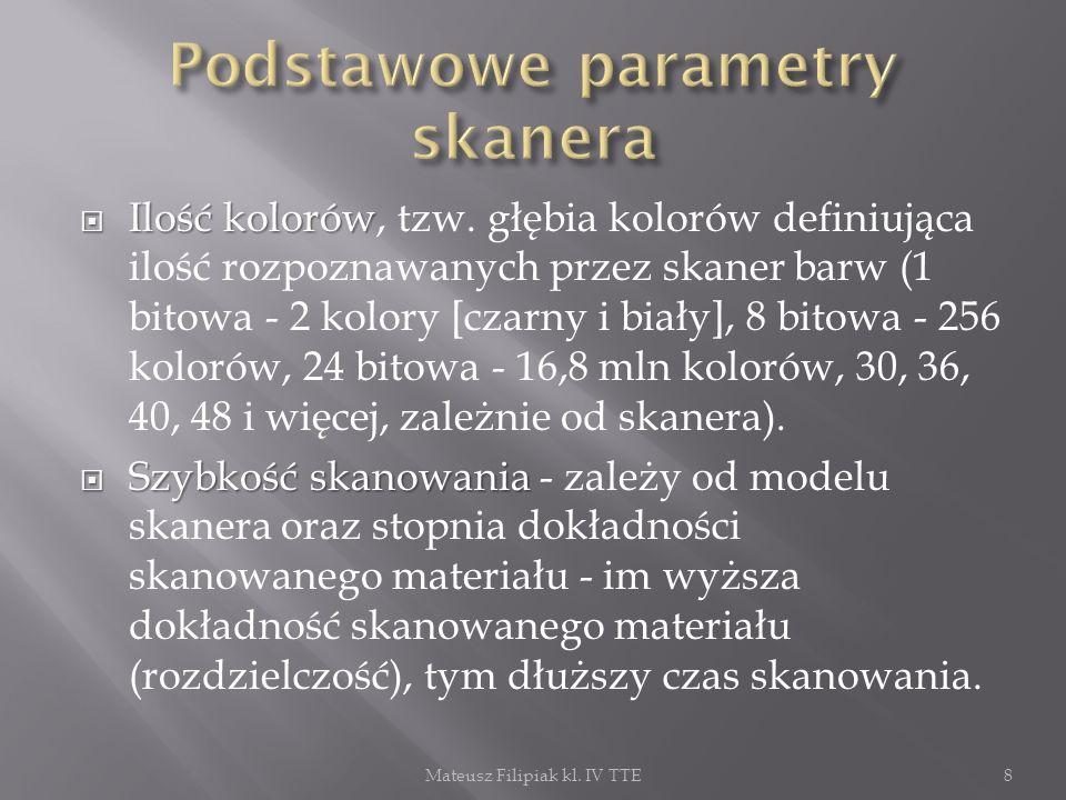 Optyczne Magnetyczne Elektroniczne Radiowe Mateusz Filipiak kl. IV TTE9