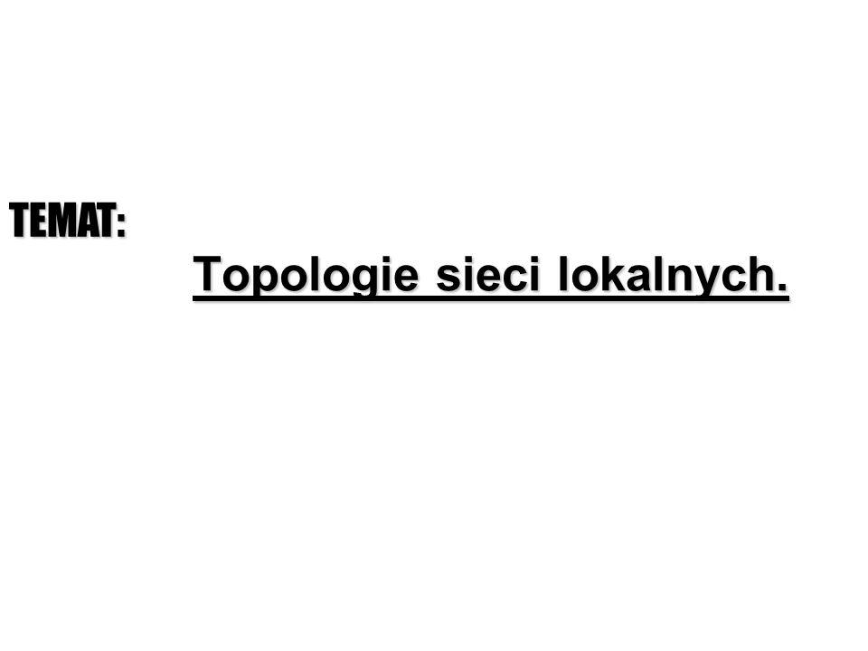 Topologie sieci lokalnych. TEMAT: