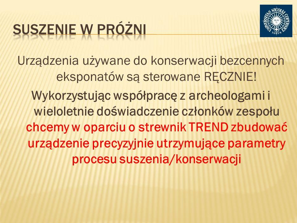 Urządzenia używane do konserwacji bezcennych eksponatów są sterowane RĘCZNIE.