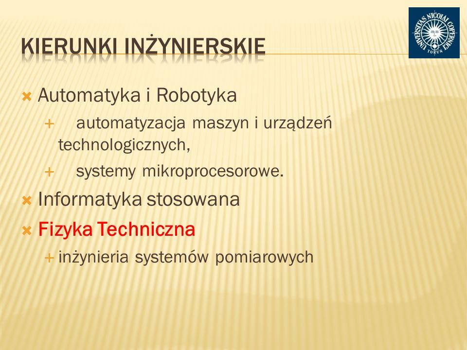 Automatyka i Robotyka automatyzacja maszyn i urządzeń technologicznych, systemy mikroprocesorowe.