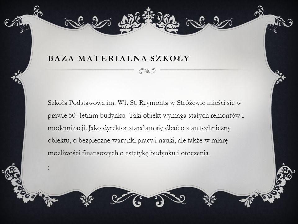BAZA MATERIALNA SZKOŁY Szkoła Podstawowa im.Wł. St.
