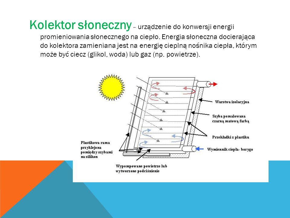 Kolektor słoneczny – urządzenie do konwersji energii promieniowania słonecznego na ciepło. Energia słoneczna docierająca do kolektora zamieniana jest