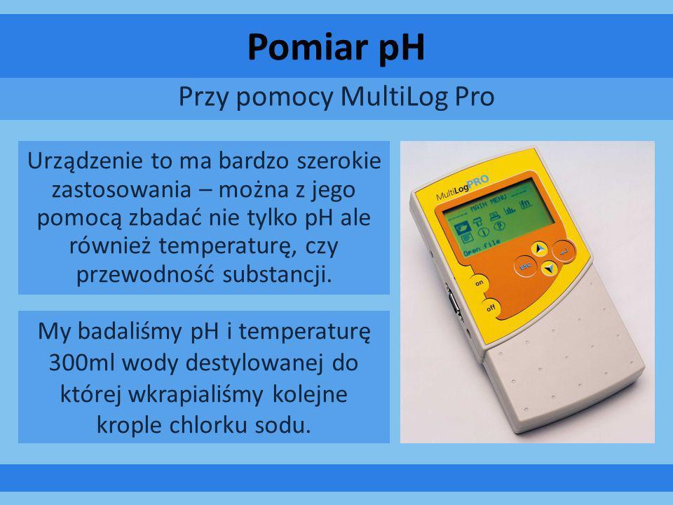 Pomiar pH Przy pomocy MultiLog Pro Urządzenie to ma bardzo szerokie zastosowania – można z jego pomocą zbadać nie tylko pH ale również temperaturę, cz