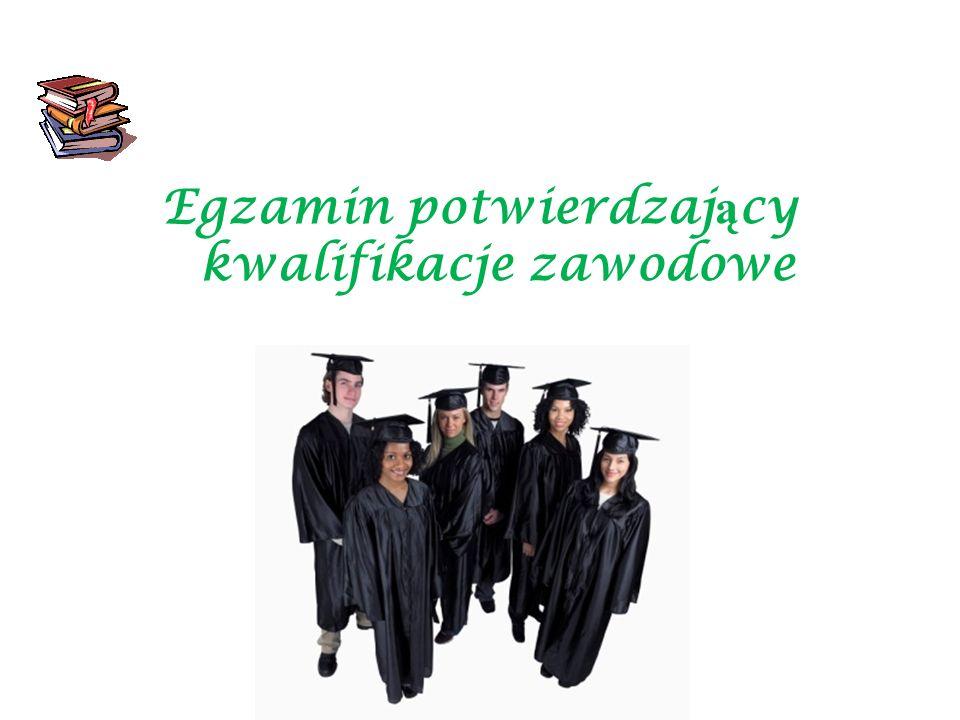 STRUKTURA EGZAMINU Etap pisemny Część I – zakres wiadomości i umiejętności właściwych dla kwalifikacji w zawodzie zalicza min.