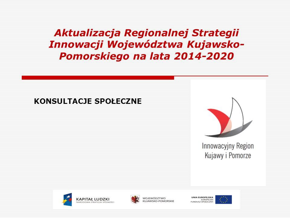 Aktualizacja Regionalnej Strategii Innowacji Województwa Kujawsko- Pomorskiego na lata 2014-2020 KONSULTACJE SPOŁECZNE