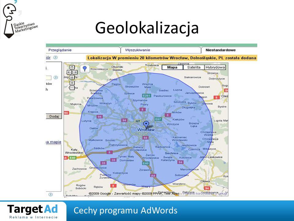 Geolokalizacja Cechy programu AdWords