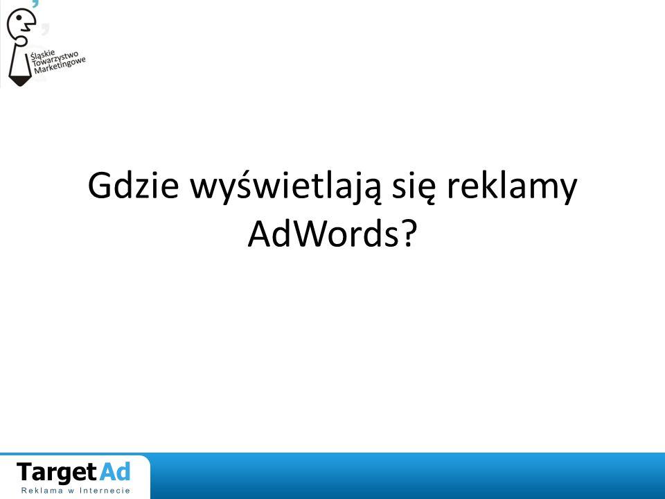 Gdzie wyświetlają się reklamy AdWords