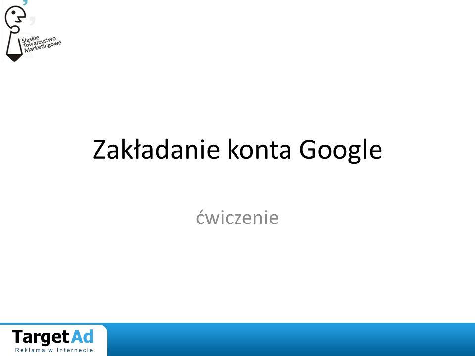 Zakładanie konta Google ćwiczenie