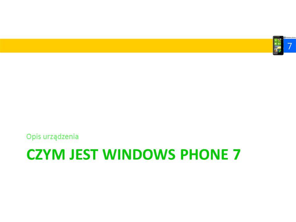 CZYM JEST WINDOWS PHONE 7 Opis urządzenia