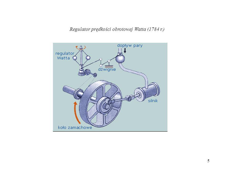 5 Regulator prędkości obrotowej Watta (1784 r.)