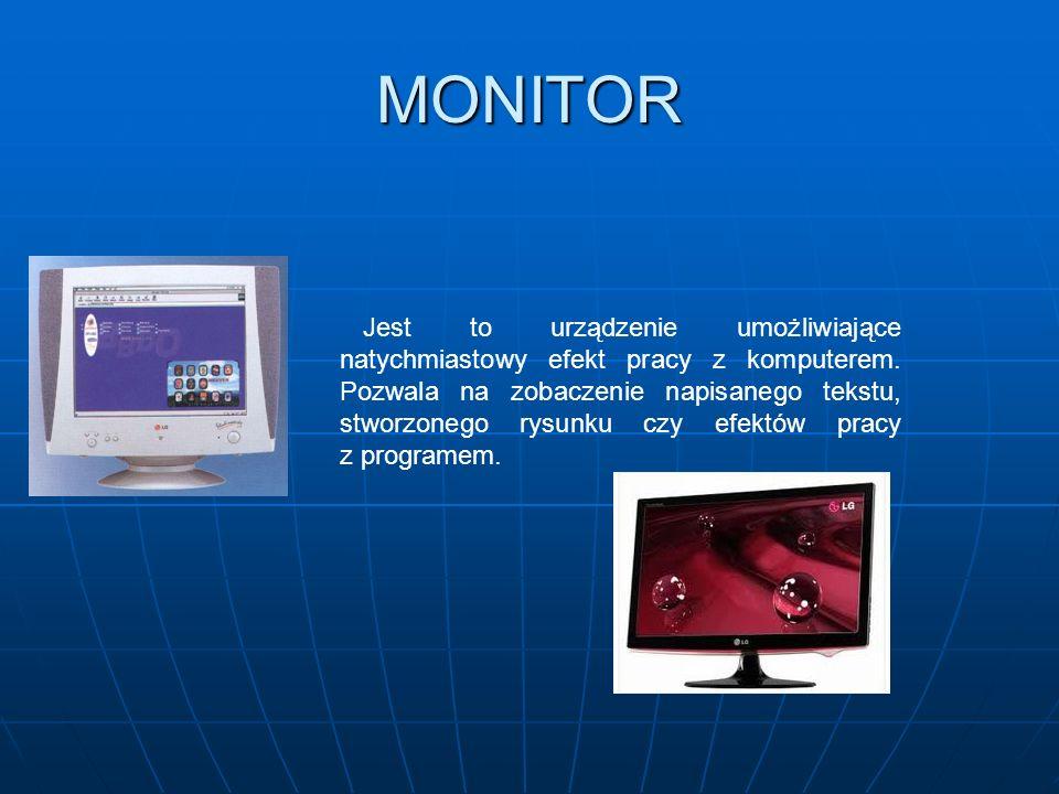 jednostka centralna monitor klawiatura drukarka głośniki