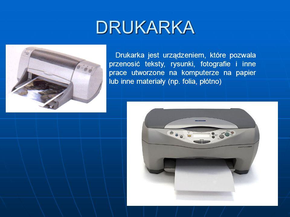 MONITOR Jest to urządzenie umożliwiające natychmiastowy efekt pracy z komputerem. Pozwala na zobaczenie napisanego tekstu, stworzonego rysunku czy efe