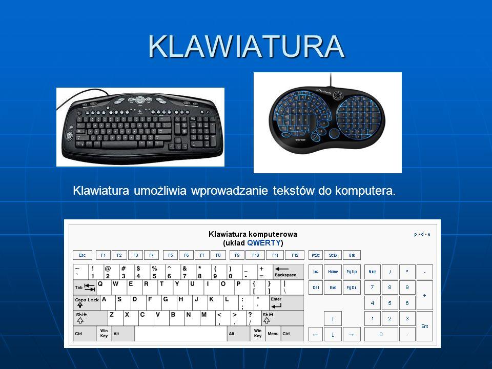 DRUKARKA Drukarka jest urządzeniem, które pozwala przenosić teksty, rysunki, fotografie i inne prace utworzone na komputerze na papier lub inne materi