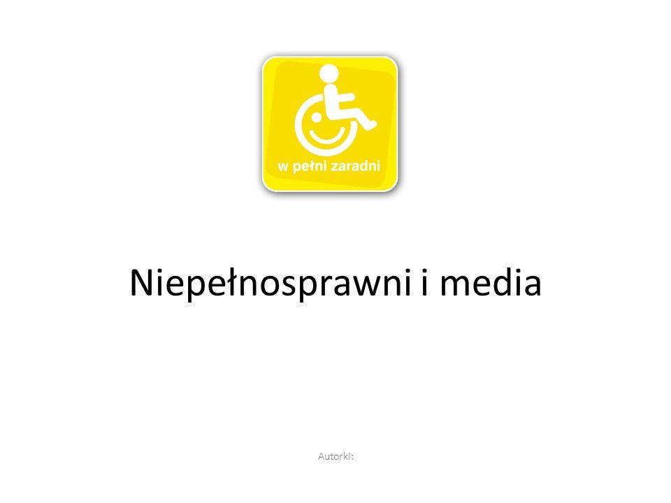 Rozpatrując problematykę wykorzystania mediów przez osoby niepełnosprawne doszłyśmy do wniosku, iż medium, które daje największe możliwości praktyczne oraz pozwala na wejście z nim w interakcje jest INTERNET i głównie temu medium postanowiłyśmy poświęcić naszą prezentację.