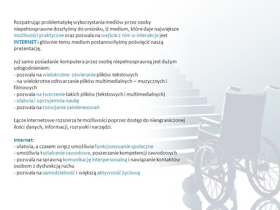 Niepełnosprawni w mediach Autorki: