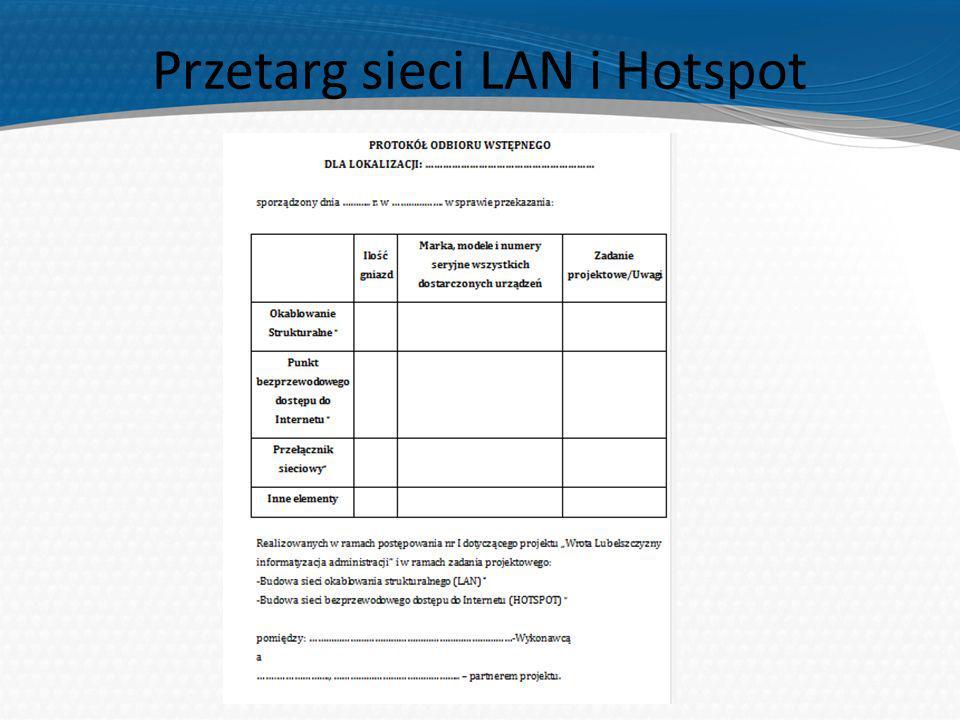 Przetarg sieci LAN i Hotspot