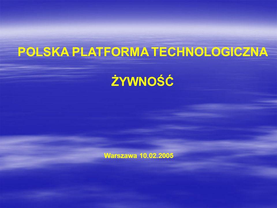 POLSKA PLATFORMA TECHNOLOGICZNA ŻYWNOŚĆ Warszawa 10.02.2005