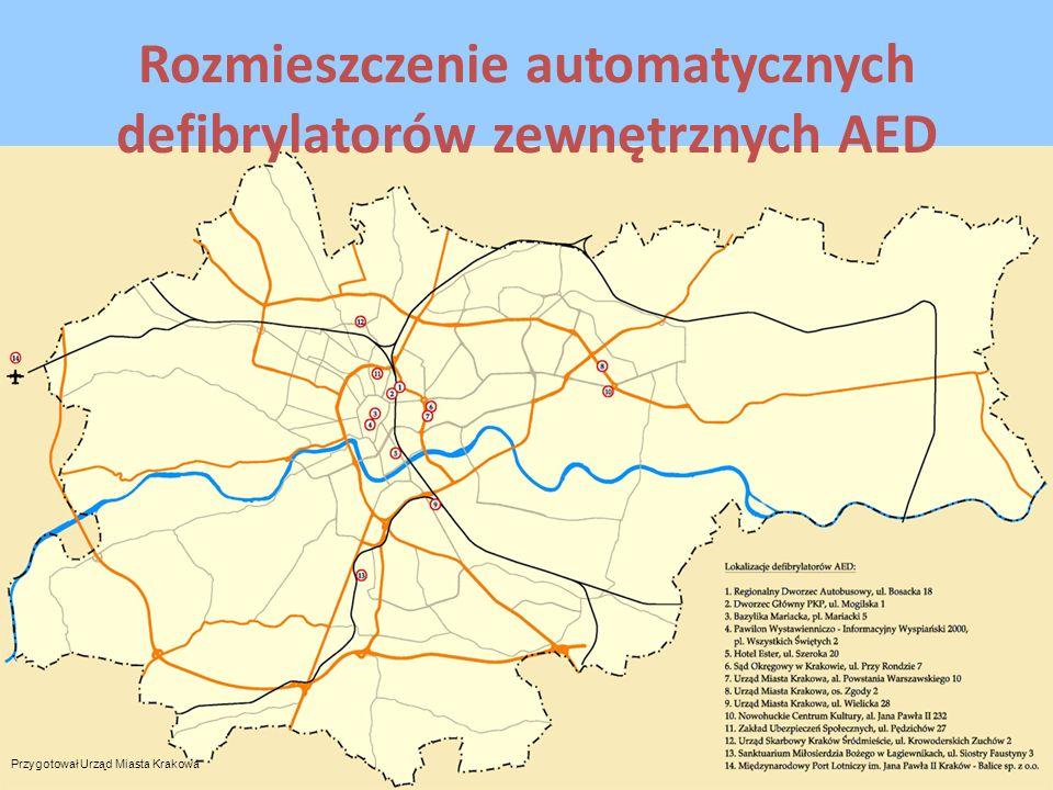 Rozmieszczenie automatycznych defibrylatorów zewnętrznych AED Przygotował Urząd Miasta Krakowa