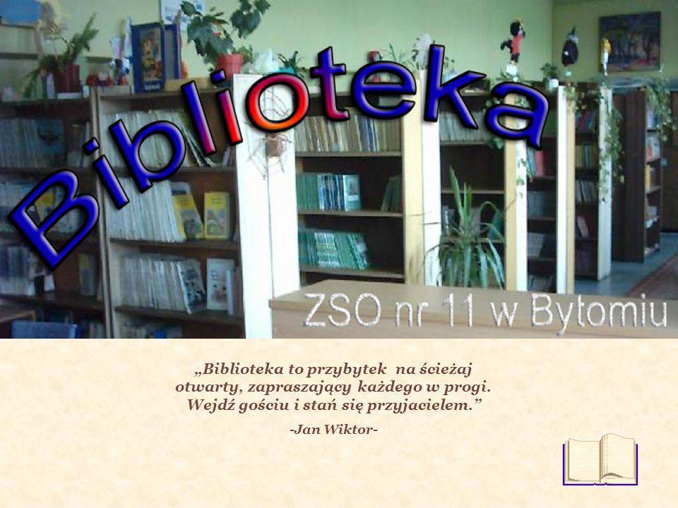 Ponadto w biblitece odbywają się spotkania: Kwadrans z książką – czytanie fragmentów wybranych książek dla uczniów klas młodszych.
